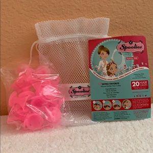 Spookiest hair curlers, set of 20 in pink
